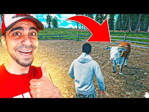 محاكي المزارع #8 : شراء البقرة اخيرا - سويت غلط مفيد 😍 | Ranch Simulator - شبكة العاب العرب | Arab Games Network