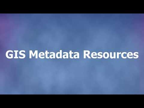 GIS Metadata Resources