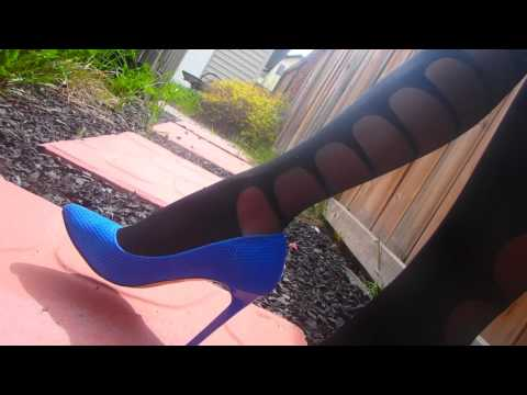 Subscribe to my channel! Posing in Lorraine pantyhose by Fiore