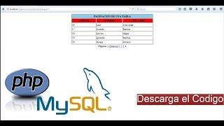 Como hacer Paginacion con PHP y MySql | vlaz vela Mp3