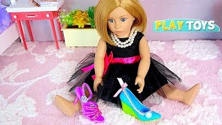 Play American Girl Doll Shoe Accessories Decoration in Doll Wardrobe in Doll room  by Play Toys!
