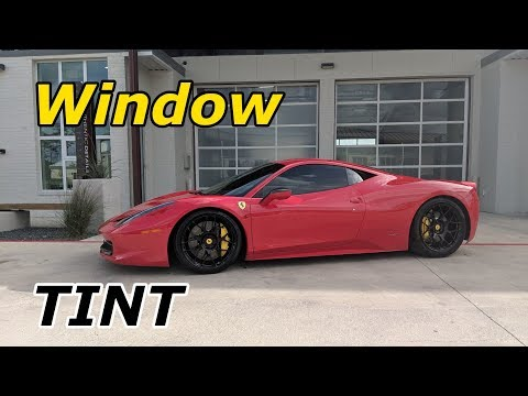 How the Pros Install Window Tint on my Ferrari 458 Italia