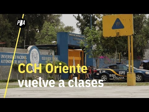 CCH Oriente vuelve a clases, alumnos se sienten inseguros