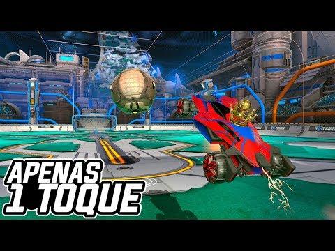 APENAS 1 TOQUE COM A BOLA MEGA RÁPIDA?! Vs Junior - Rocket League