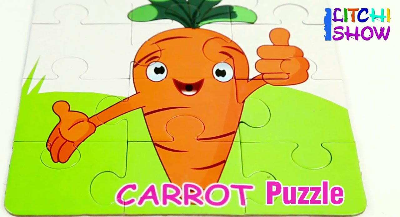 Carrot Picture Puzzle   Puzzle Games For Kids   Carrot Jigsaw ...
