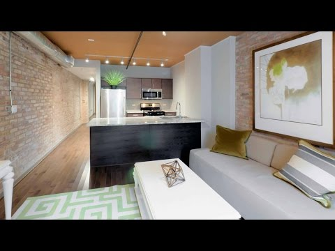 Tour a Streeterville studio model at The Lofts at River East