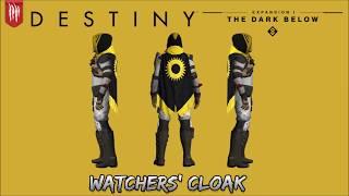 destiny the dark below hunter class armor cloaks