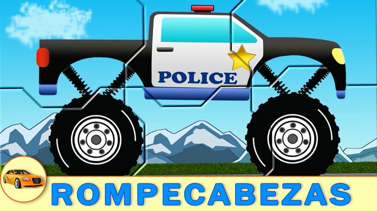 Pelmel costilla calcular  Coche de Policia. Coches Rompecabezas para Ninos. Dibujos Animados en  Espanol - YouTube