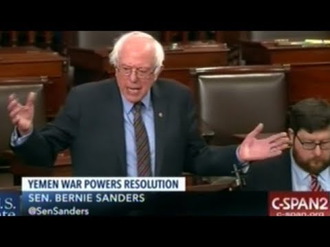 "Sanders ""Article ONE Of The Constitution States It Is Congress That Has The Power To Declare War!"""