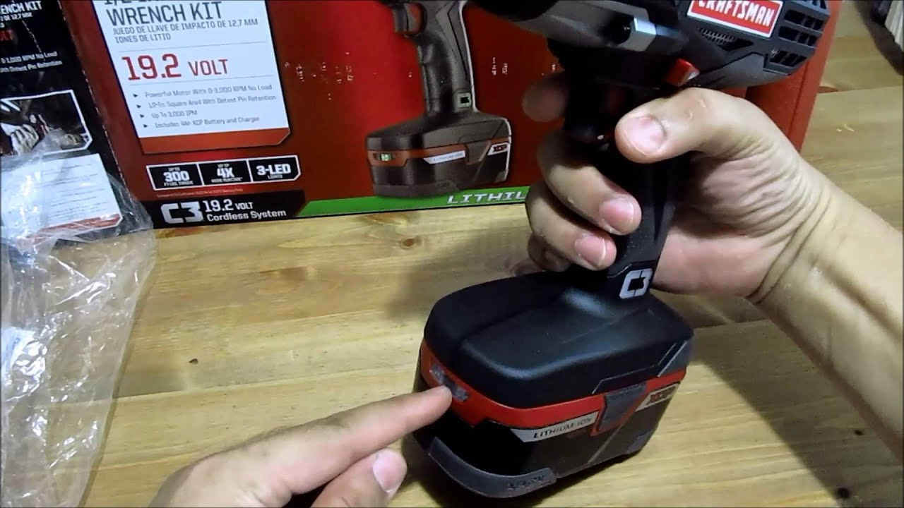 Unboxing Craftsman C3 1 2 Heavy Duty Impact Wrench Kit Lithium Ion