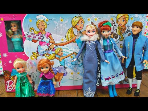 Elsa and Anna toddlers get Barbie's advent calendar