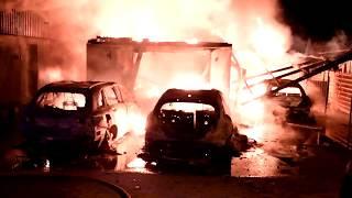 Brand i villagarage och villa utanför Vellinge
