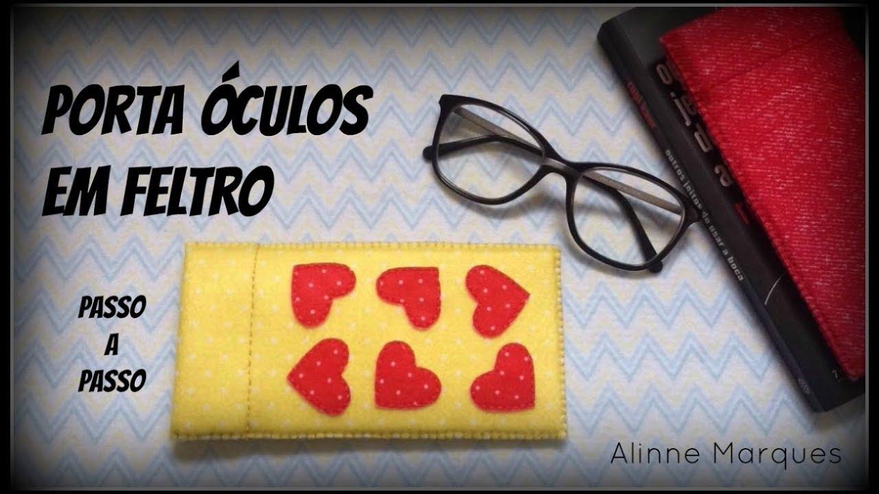 06527c8f0 Porta óculos em feltro - Artesanato - Passo a Passo - YouTube