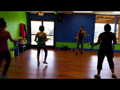 Brickhouse Cardio Club San Diego – Our very first Zumba Toning class.