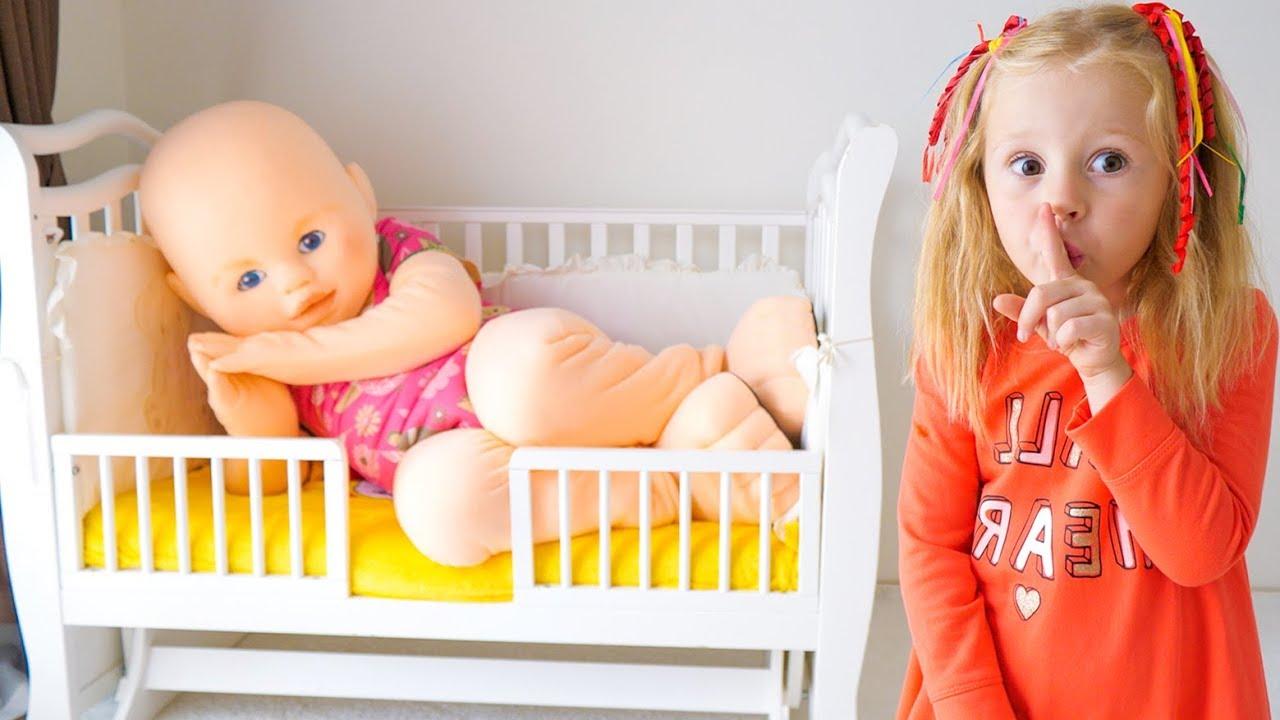 Nastya وحلم مضحك عن دمية طفل عملاقة فيديو للأطفال