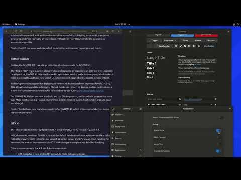 GNOME dark preference transition
