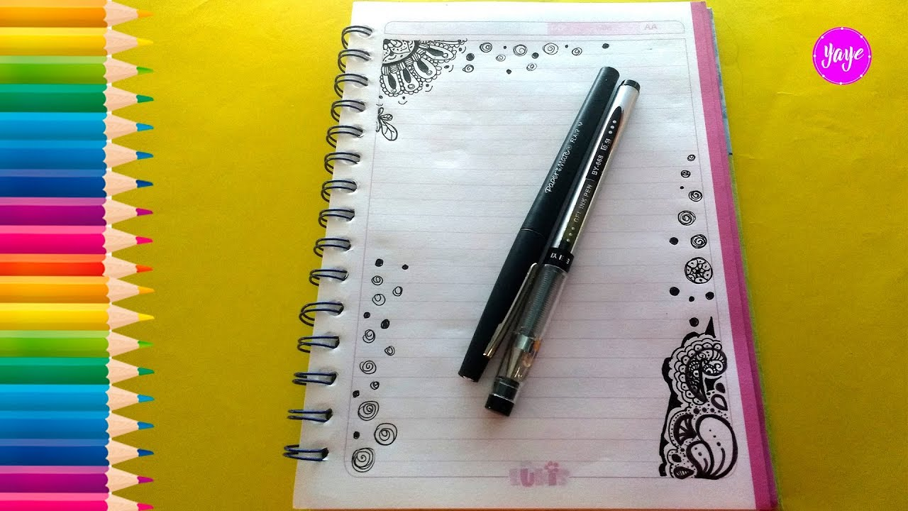 Cómo Marcar Cuadernos Ideas Para Dibujar Mandalas Margenes Para Cuadernos Yaye