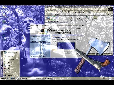 Выживание под Windows 2000 в 2017 году!!!