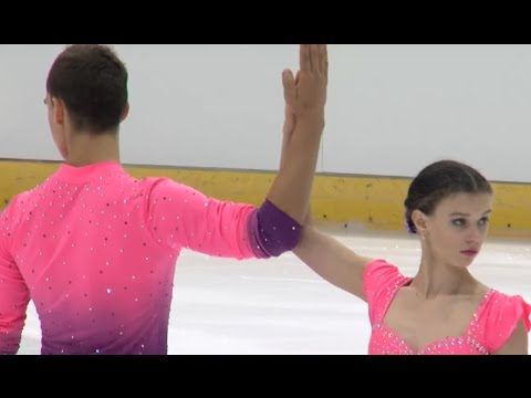 2016 ISU Junior Grand Prix - Dresden - Pairs Short Program - Anna DUSKOVA / Martin BIDAR CZE