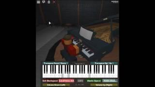 Saitama's Sad Theme - One Punch Man by: Makoto Miyazaki on a ROBLOX piano.