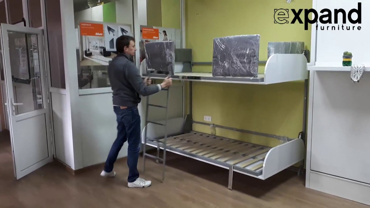 Hover Bunk Beds That Fold Flat On The Wall Youtube