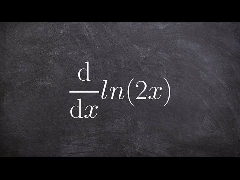 Calculus - Find the derivative of natural logarithm using product property, d(ln(2x))/dx