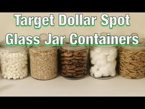 How I Use My Target Dollar Spot Glass Jar Containers Youtube