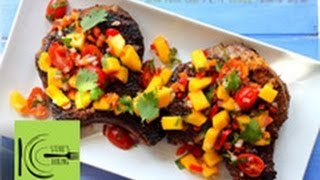Grilled Jerk Pork Chops With Mango Tomato Salsa (stevescooking)