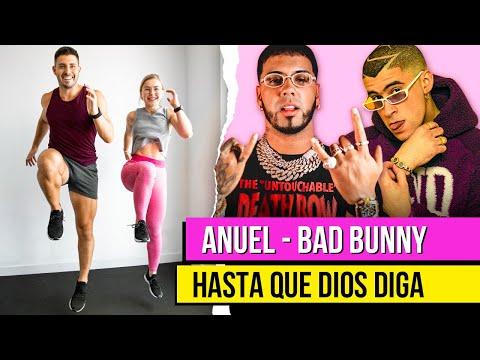 Bad Bunny, Anuel AA – HASTA QUE DIOS DIGA | Rutina de EJERCICIOS para ADELGAZAR en CASA