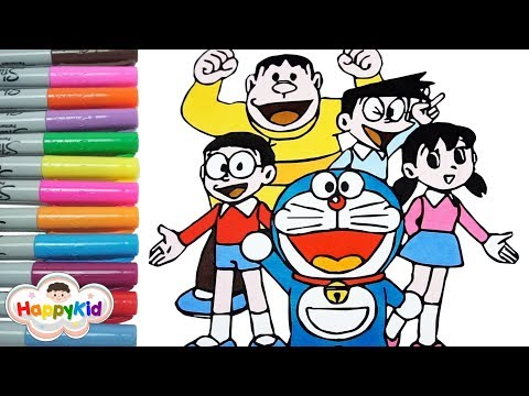 doraemon-coloring-book- -painting-doraemon-and-friends- -hand-coloring