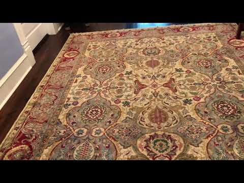 How I straighten my area rugs in my home: it can be done with no sight.