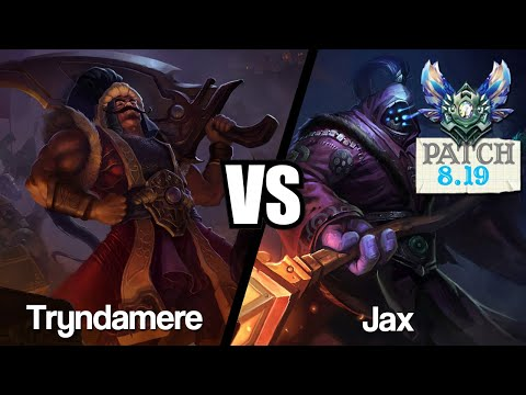 Vidéo d'Alderiate : [FR] TRYNDAMERE VS JAX - 8.19 - DIAMANT 1