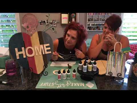 DIY Wood Home Plaque and Gift bag using ColoriQue with Clearsnap