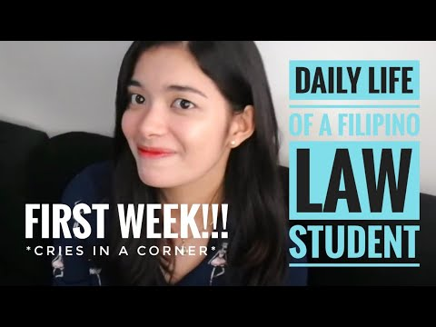 A Day in the Life of a Philippine Law Student (FIRST DAY)