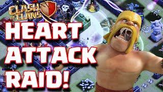 Clash Of Clans CLOSE CLAN WAR RAIDS | GoWiPe Heart Attack Raids In Clan Wars