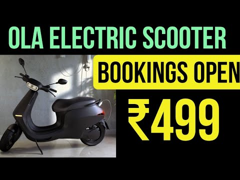 Ola Electric Scooter Pre-bookings Started in India - ₹499 - YouTube