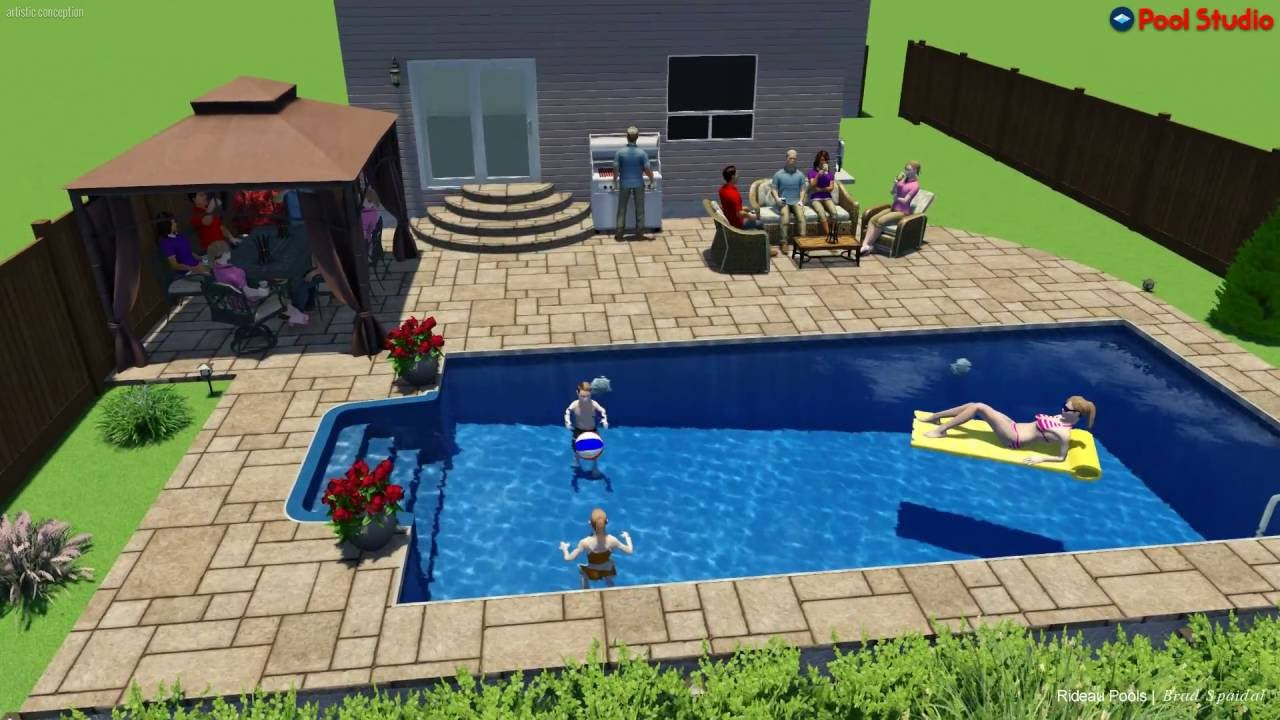 15 x 30 inground pool design by rideau pools ottawa youtube for Inground pool designs