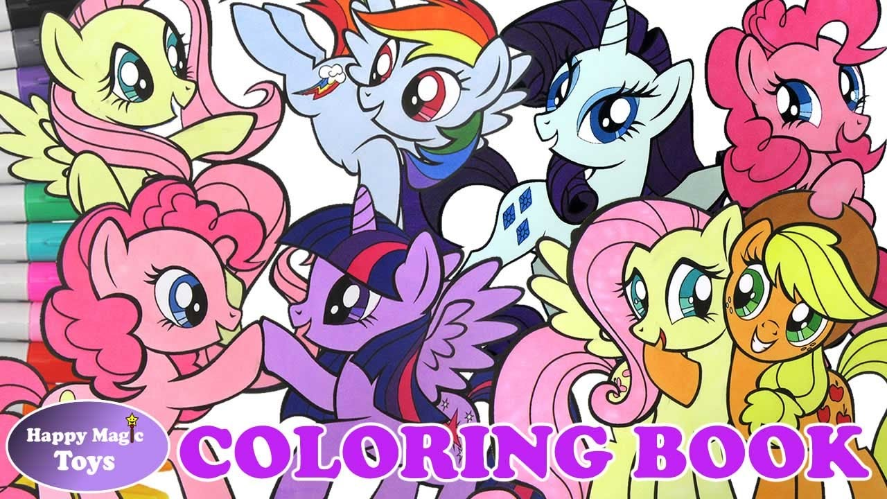 my little pony mlp mane 6 coloring book compilation 1 coloring