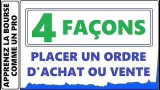 4 FACONS DE PLACER UN ORDRE D'ACHAT OU VENTE A LA BOURSE AVEC QUESTRADE IQ EDGE