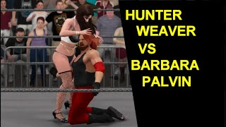 Mixed wrestling action! supermodel barbara palvin takes on hunter weaver in this hard-hitting match.and yet another 2k17 match.