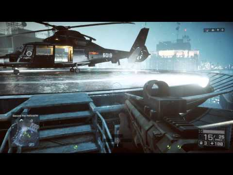 Battlefield 4 - Shanghai: Help Secure Rooftop & Helicopter for VIPS (Scene) Recker Shotgun Action