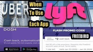 Uber Lyft Cashback Apps,Dosh,Freebird App, Promo Codes, Workers Daily Strategy to Save Money