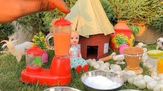 Miniature Summer Drinks   Orange, Mango, Lemon   Miniature Cooking   Tiny Farm Foods E011