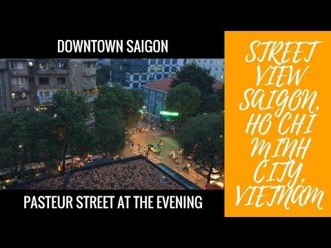 Visiting Saigon, Ho Chi Minh City, Vietnam, Asia -  Review Pasteur street view at the evening