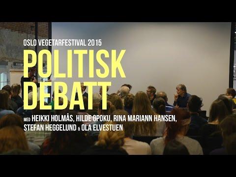Politisk debatt på Oslo Vegetarfestival