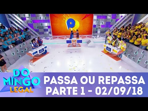 Passa ou Repassa - Parte 1 | Domingo Legal (02/09/18)