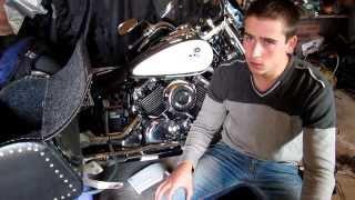 Как подключить динамики и Сабвуфер отдельно на Два усилителя на Мотоцикл Yamaha Drag Star 650cc