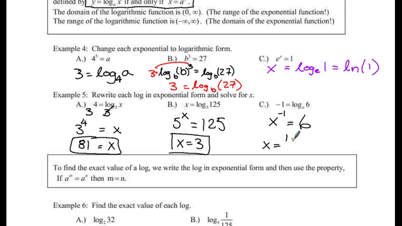 How To Find Range Of Precalc 43 & 44: Laws And Properties Of  Exponential Functions