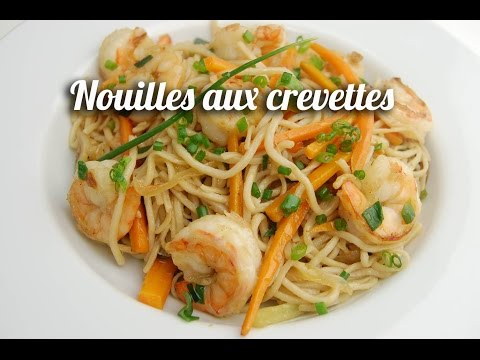 nouilles-sautées-aux-crevettes