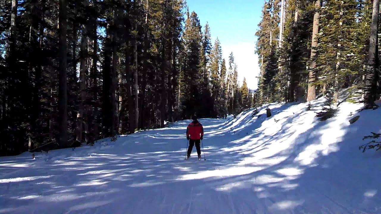 skiing at sunrise ski resort - youtube
